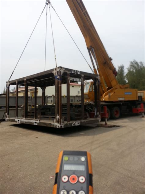 load testing visual  lifting gear zone inspection