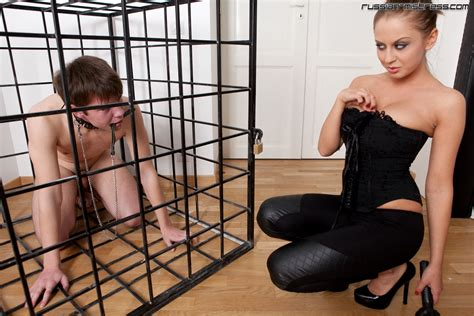 Slave In Cage Femdom In Russia
