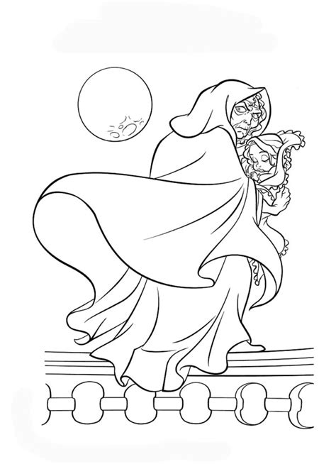 Coloring Foto by Disney Coloring Pages Rapunzel And Witch