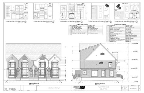 architectural plans for homes multi family residential town house plans
