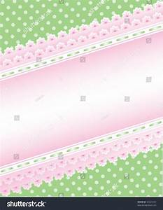 Cute Green And Pink Background Stock Vector Illustration ...