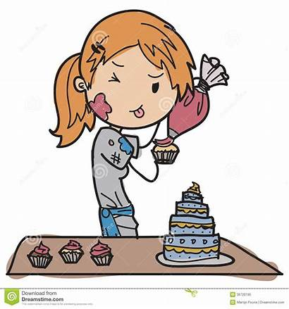Chef Pastry Clipart Young Clip Decorating Royalty