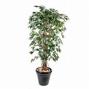 Grande Plante Artificielle : ficus artificiel lianes grandes feuilles vert ou vert cr me 3 hauteurs ~ Teatrodelosmanantiales.com Idées de Décoration
