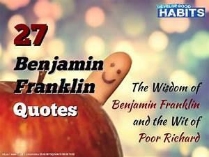 27 Benjamin Franklin Quotes: The Wisdom of Benjamin ...