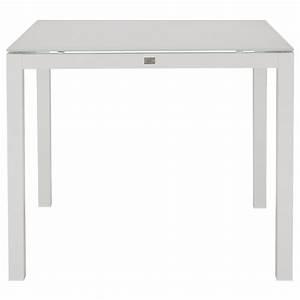 """lisbon white 36"""" square table"""
