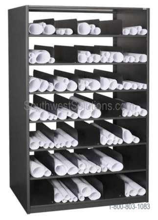 rolled blueprint storage shelving flat file cabinets plan drawing rack images blueprint