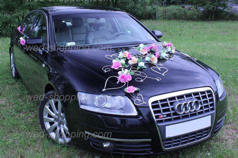 deco pour voiture mariage d 233 coration voiture de mariage fleurs mauve ivoire