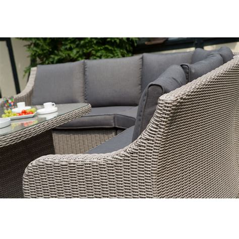 Salon de jardin ru00e9sine Madrid Kettler  canapu00e9 + table + fauteuil + banc - Plantes et Jardins