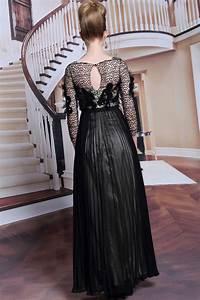 Haut Habillé Pour Soirée : noire robe chic haut ajour pour soir e ~ Melissatoandfro.com Idées de Décoration