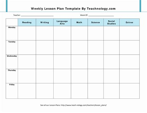 10 Lovely Microsoft Office Weekly Schedule Template
