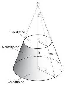 grundfläche kegel kegelstumpf