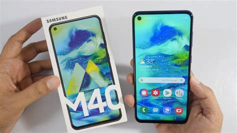 samsung galaxy m40 unboxing overview youtube
