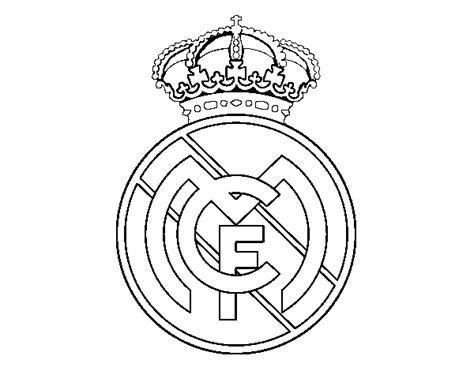 Desenho De Emblema Do Real Madrid C.f. Para Colorir