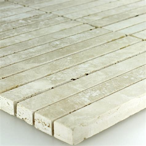 travertine polished travertine mosaic tile 15x15x10mm beige polished go44123m