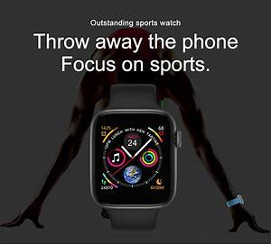 T5 Smartwatch Changeable Strap Iwo Pro Series 4 Smart