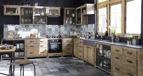 cuisine maison meubles de cuisine indépendant et ilot maison du monde