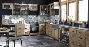 meubles de cuisine independant et ilot maison du monde With cuisine copenhague maison du monde avis