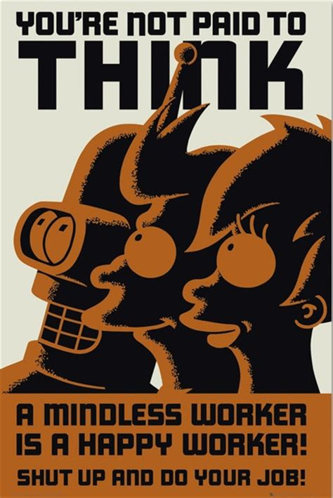 futurama  mindless worker   happy worker gift search