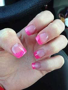 Pink tip acrylic nails - how you can do it at home ...