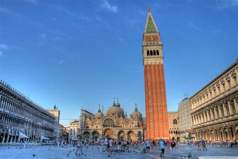 St Marks Square Venice Italy 4k Hd Desktop Wallpaper