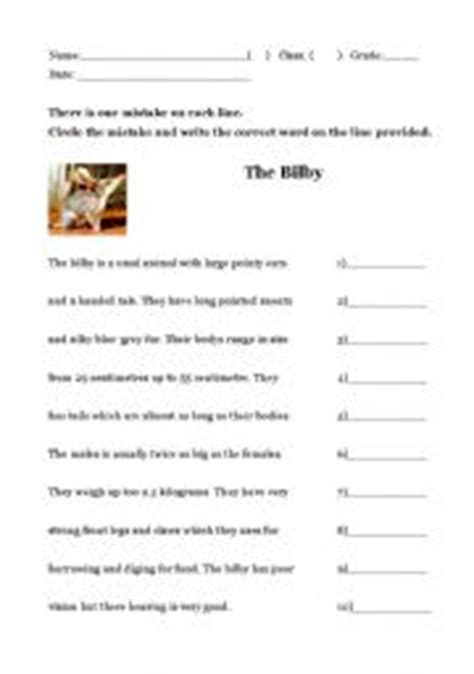middle school proofreading exercises the worksheets