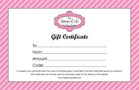 gift certificate templates examples word