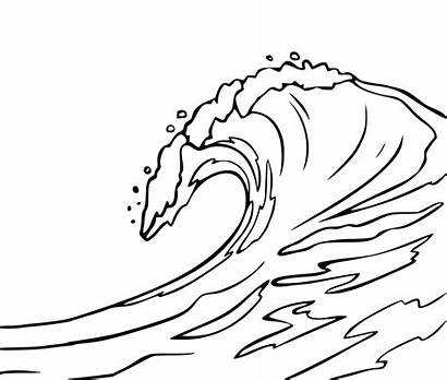 Waves Coloring Pages Ocean Water Drawing Wave
