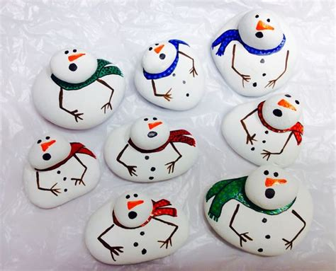 cute christmas rock painting ideas  kids