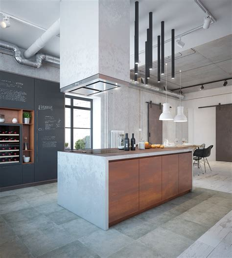 industrial kitchen decor industrial house design and decor for stylish appearance 65728