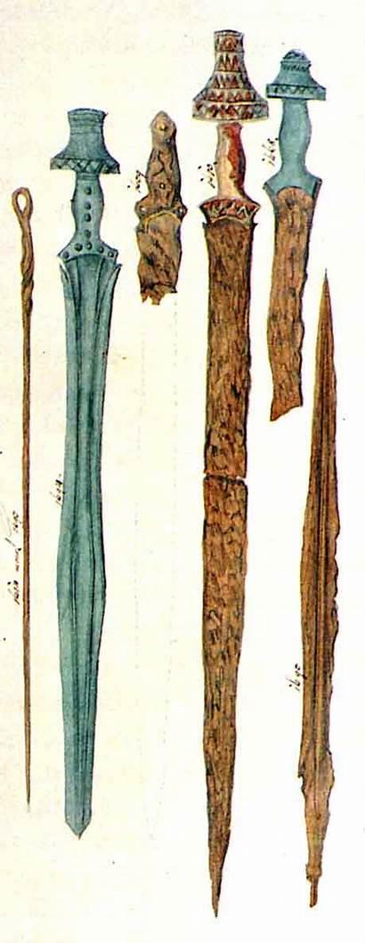 Swords Hallstatt Sword Iron Age Culture Celtic