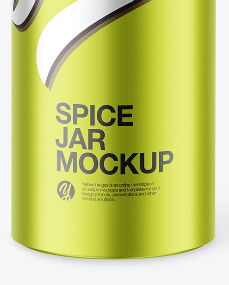 See more ideas about mockup, mockup free psd, spice jars. Matte Metallic Spice Jar Mockup in Jar Mockups on Yellow ...