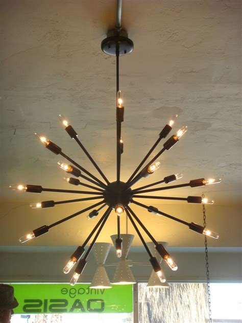Starburst Light Fixture by Rubbed Bronze Atomic Sputnik Starburst Light Fixture