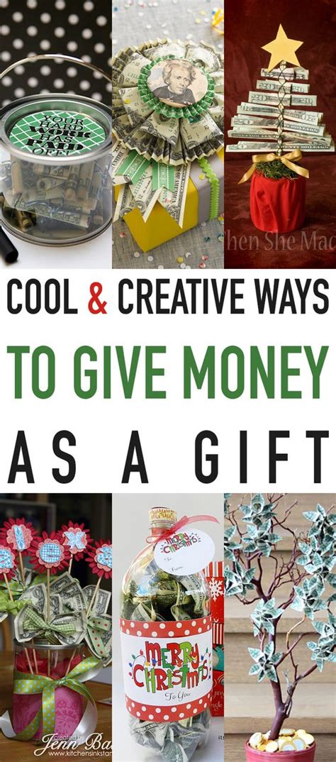 cool creative ways to give money as a gift best pins
