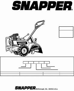 Snapper Tiller Ir5003b  Nir5003b User Guide