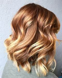 Light Copper To Blonde Balayage HAIR Colors Cut And