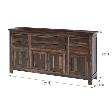 Large Buffet Cabinet by Richmond Spacious Solid Wood 6 Drawer Large Buffet Cabinet