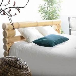 Tete De Lit Bambou : t te de lit en bambou chambre zen lit 160x200 c achat vente t te de lit cdiscount ~ Teatrodelosmanantiales.com Idées de Décoration