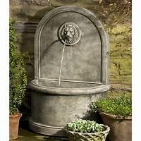 water wall fountain Campania International Lion Wall Cast Stone Outdoor ...