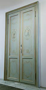 Porta decorata in stile Veneziano Falegnameria Avoledo