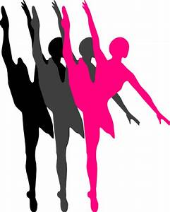 Triple Ballet Dancer Silhouette Clip Art at Clker.com ...