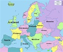 Map of Europe - Countries of my heritage expanded ...
