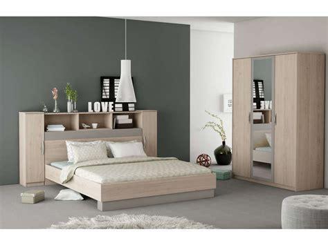 chambre à coucher chez conforama lit 140x190 cm graphic coloris chêne arizona vente de
