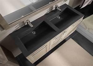 vasque pierre noire fashion designs With salle de bain design avec double vasque pierre noire