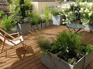 amenagement paysager d39une terrasse a paris l39aurey With jardins et terrasses photos 3 amenagement dun espace vert avec terrasse par le