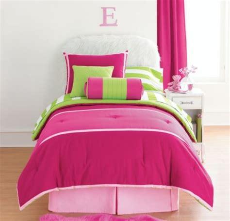 12pc full cabana comforter set pink lime green sheets val