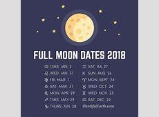 August 2018 Full Moon Phase Calendar Printable October