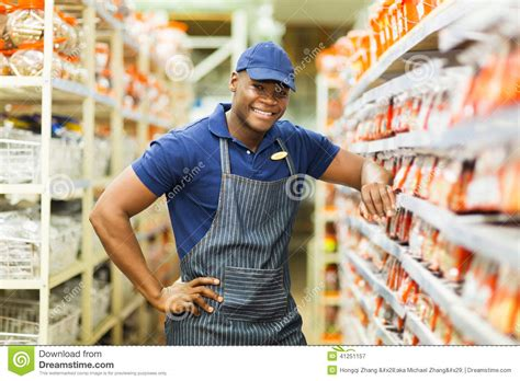 Hardware Store Worker Stock Image. Image Of Aisle