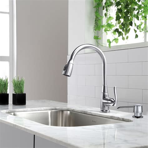 one handle kitchen faucets kraus one handle single kitchen faucet reviews