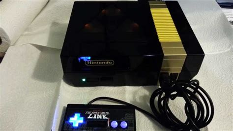 Custom Nintendo Nes Zelda Console With Matching Led Lit