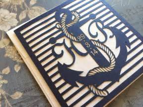 anchor wedding invitations laser cut wedding invitations nautical themed wedding